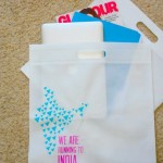 We even had bags made